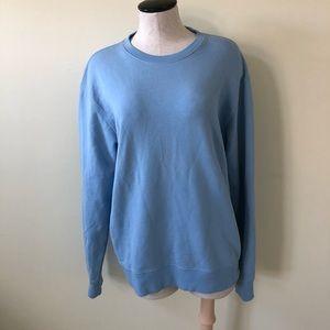 Vince blue crew neck long sleeve sweatshirt M